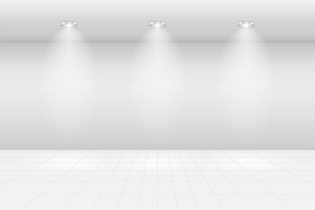 Sala de exposición vacía galería de marco