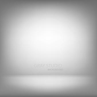 Sala de pared gradiente de estudio gris, fondo interior moderno