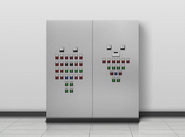 Sala de subestaciones. equipo de electricista, generador