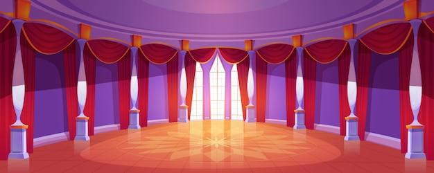 Salón de baile interior en el castillo real medieval