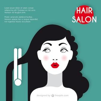 Salón de peluquería plantilla