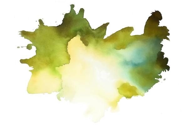 Salpicadura de acuarela abstracta verde vector gratuito