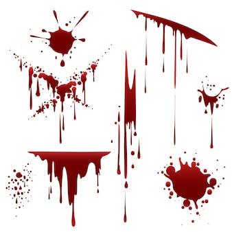 Salpicadura desaliñada de horror sangriento