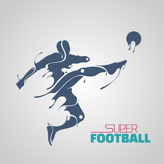 Salpicadura robótica súper fútbol