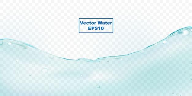 Salpicaduras de agua y burbujas de ondulación