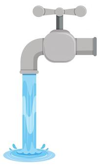 Salpicaduras de agua saliendo de la pestaña