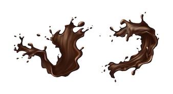 Salpicaduras de chocolate caliente