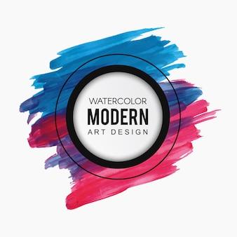 Salpicaduras de acuarela de colores diseño de arte moderno