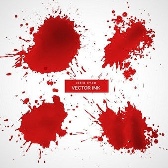 Salpicaduras de tinta roja