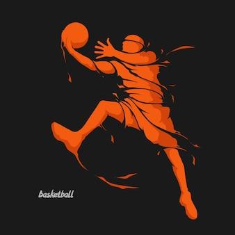 Salpicaduras de jugador de baloncesto