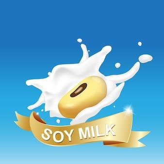 Salpicaduras de leche de soja