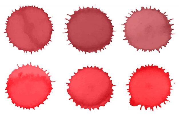 Salpicaduras de pintura de acuarela roja