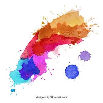 Salpicaduras de pintura de colores vector