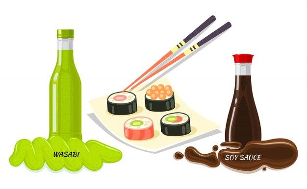 Salsas para sushi