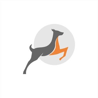Saltando ciervo logo simple silueta moderna