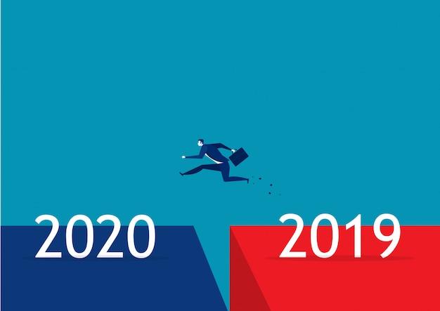 Salto de negocios de 2019 a 2020