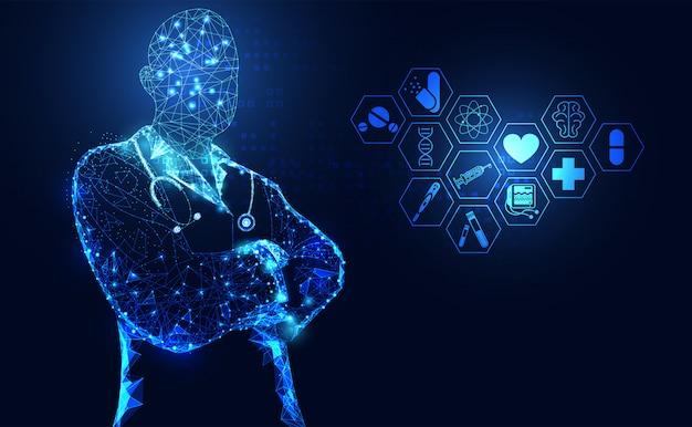Salud abstracto ciencia medica