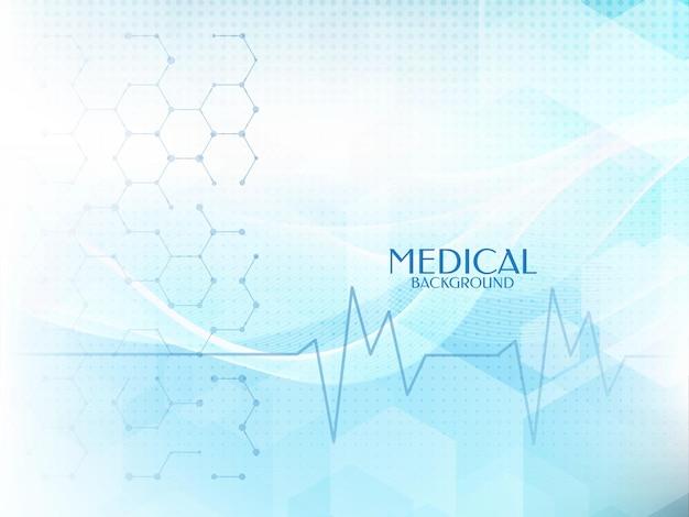 Salud y fondo de color azul suave madical