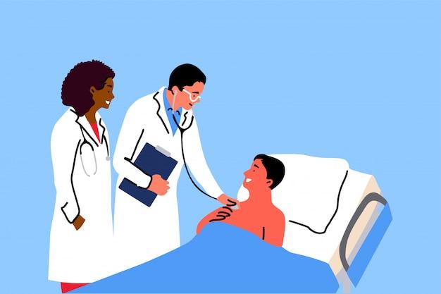 Salud, medicina, concepto de examen