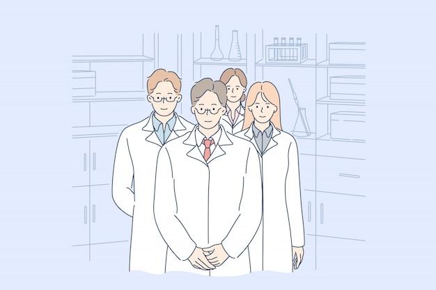 Salud, medicina, equipo, concepto de liderazgo.