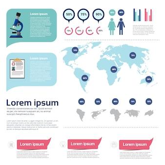 Salud medicina infografía información banner con espacio de copia