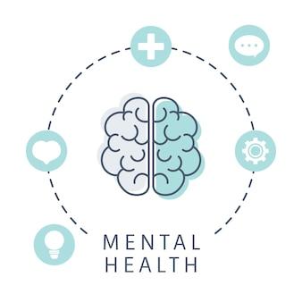 Salud mental entendiendo el vector cerebral