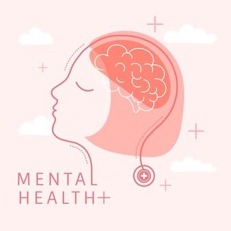Salud mental para mujeres vectoriales.