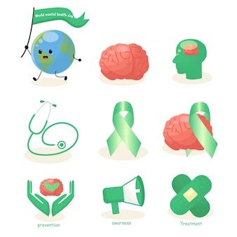 Salud mundial campaña cerebral accidente cerebrovascular días del corazón cuidado médico humano cuidado sin fines de lucro estetoscopio