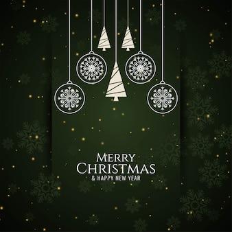 Saludo de celebración feliz navidad