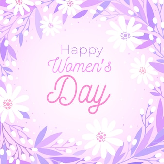 Saludo colorido día floral de la mujer