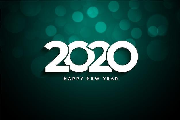 Saludo creativo de feliz año nuevo 2020