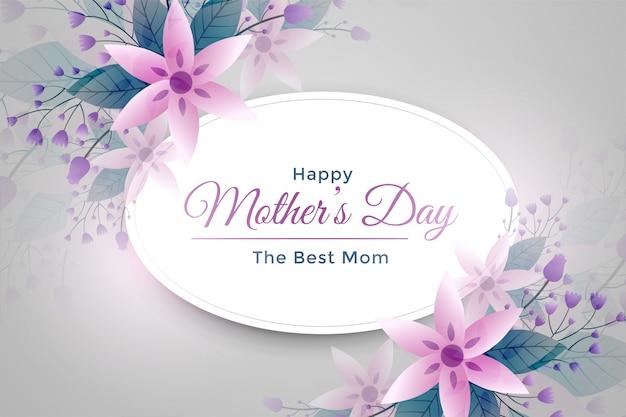 Saludo elegante de la flor del día de madre