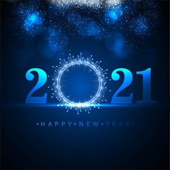 Saludo feliz año nuevo 2021 fondo