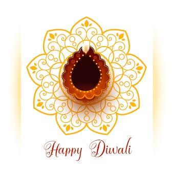 Saludo para la feliz celebración del festival de diwali