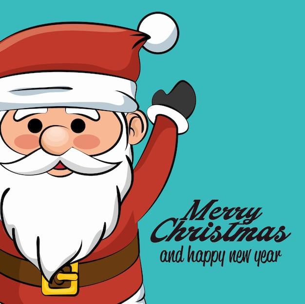 Saludo feliz navidad y feliz año nuevo