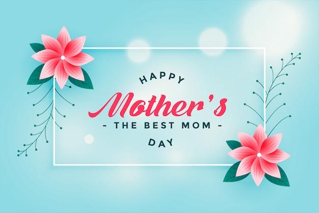 Saludo feliz precioso de la flor del día de madre