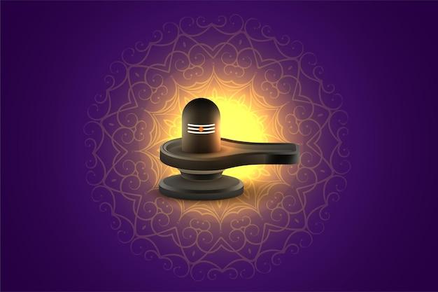 Saludo del festival divino maha shivratri con shivling
