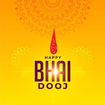 Saludo del festival para la feliz celebración de bhai dooj