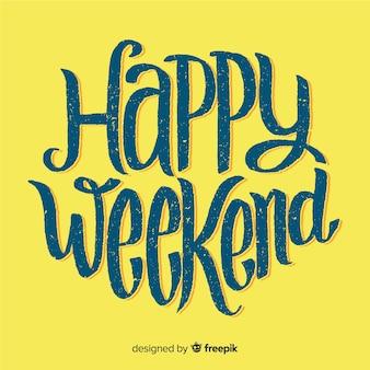 Saludo fin de semana desgastado