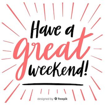 Saludo fin de semana líneas
