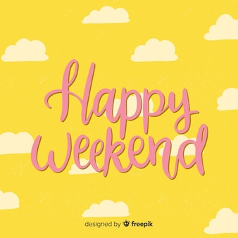 Saludo fin de semana nubes