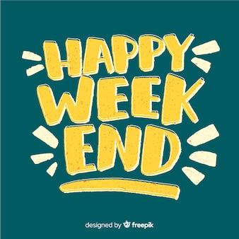 Saludo fin de semana pizarra