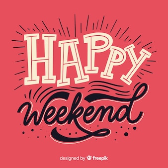 Saludo fin de semana plano