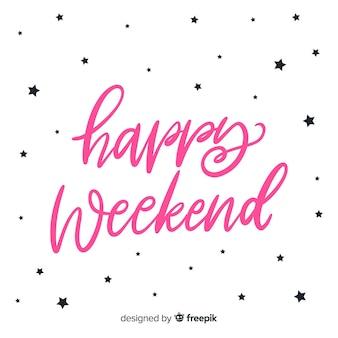 Saludo fin de semana simple estrellas