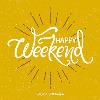 Saludo fin de semana simple