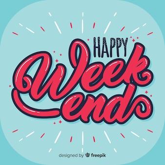 Saludo fin de semana texto con volumen