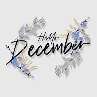 Saludo floral de diciembre