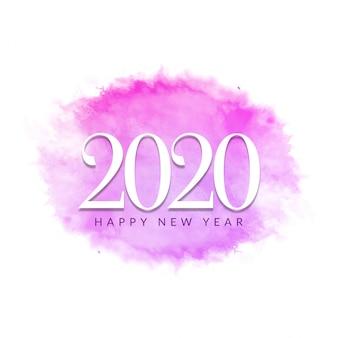 Saludo moderno año nuevo 2020