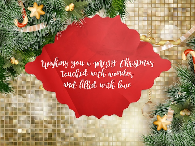 Saludo de navidad.