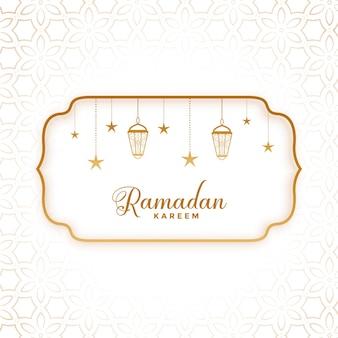 Saludo de ramadan kareem en estilo plano